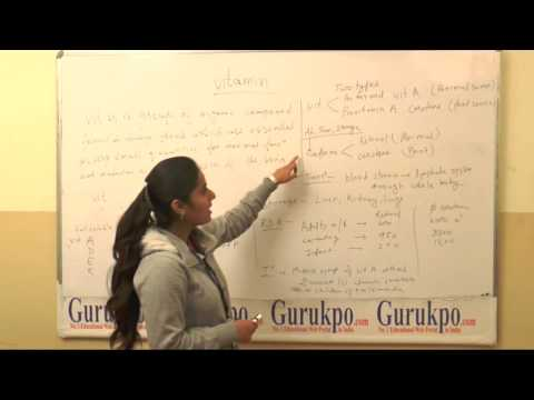 Types of Vitamins (B.Sc., Nursing) by Ms. Shaheen, of  Biyani Girls College, Jaipur