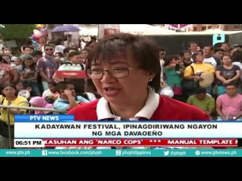 Kadayawan Festival, ipinagdiriwang ngayon ng mga Davaoeño