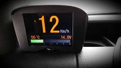 Ajotietokone näyttö - Kiinteä OBD2 näyttö ja vikakoodinlukija/nollaaja ajoneuvoon