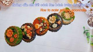 Thuần chay | Hướng dẫn chi tiết cách làm bánh trung thu hiện đại | How to make VEGAN mooncake.