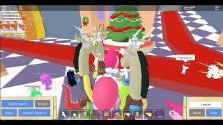 messing about with vip ponies on the roblox game