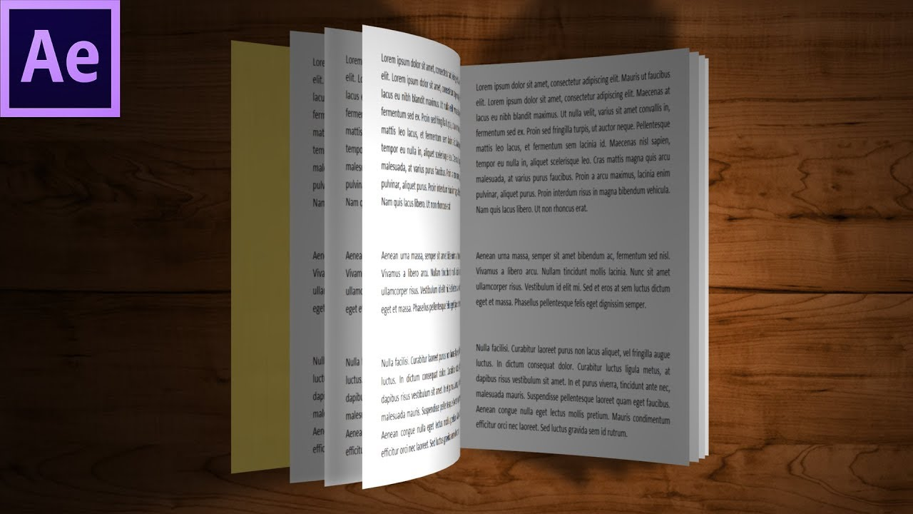 3d Book After Effects