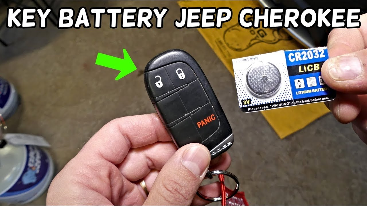How To Replace Key Fob Battery On Jeep Cherokee Youtube