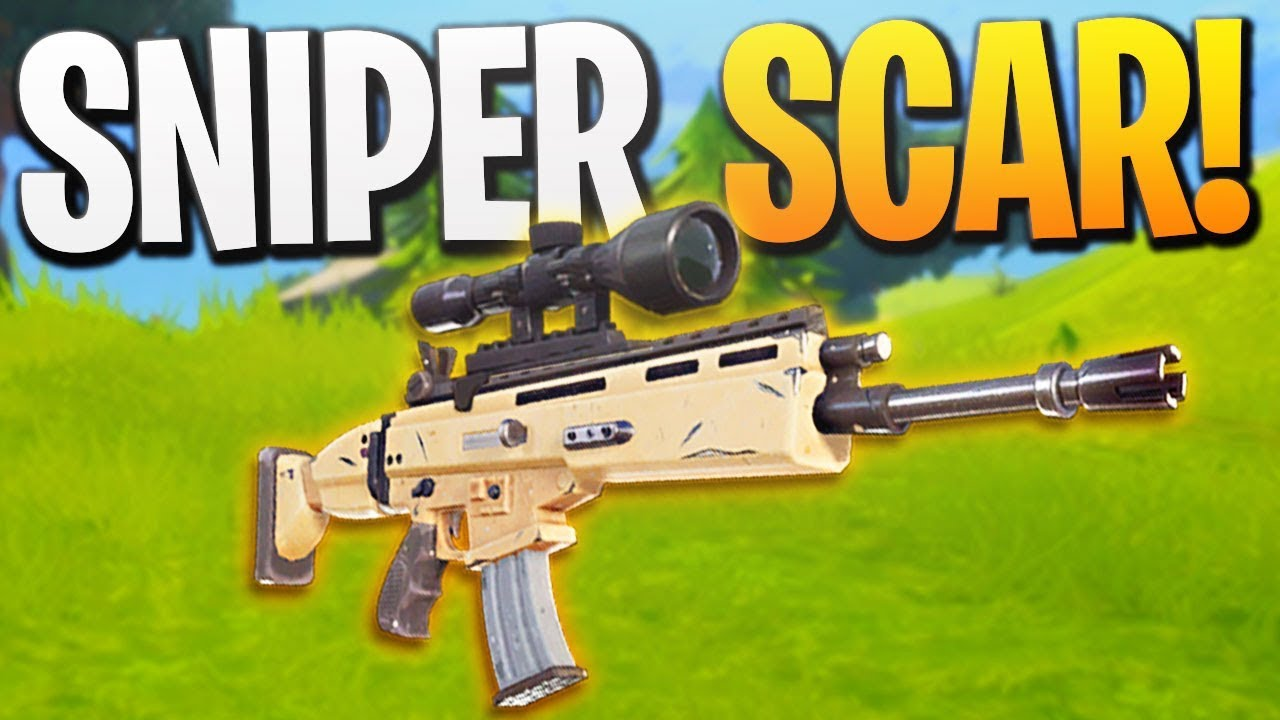 Sniper Scar Crazy Accurate Assault Rifle In Fortnite Br Ps Fortnite Gameplay