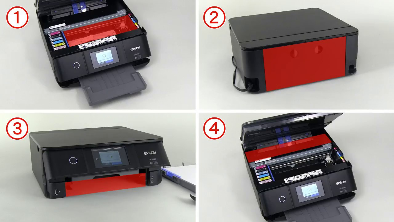 How to Remove Jammed Paper (Epson XP-6100,XP-8500) NPD5853