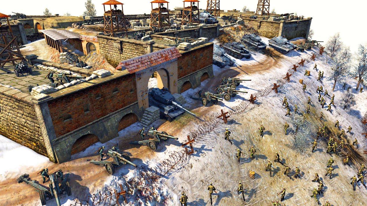 Download 5,000 Soviets Charge CASTLE FORTRESS! ~ 1,000 German Defenders - Men of War: Defense Mission