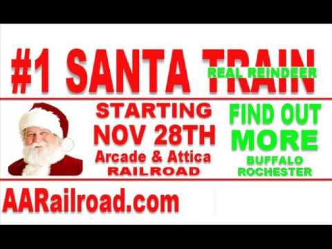 Medina Museum Railroad Santa Train Ride Information at www.AARailroad.com