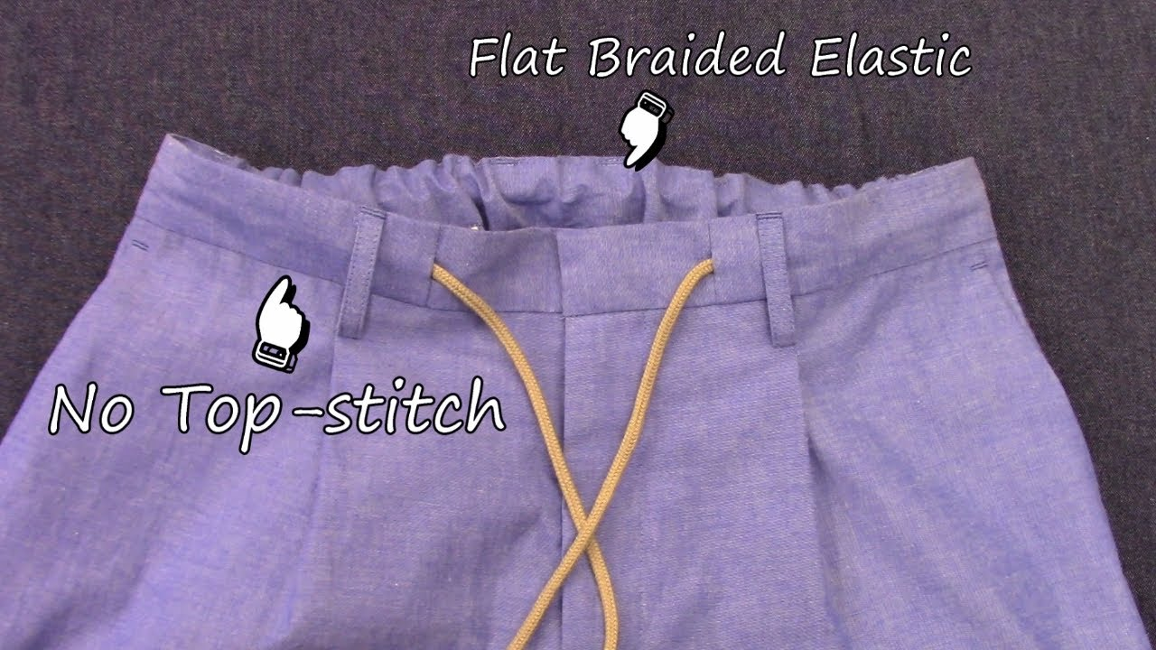 How to sew a Drawstring Waistband with a Flat Braided Elastic