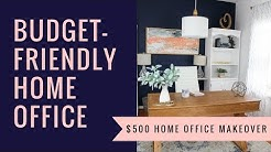 Budget Friendly Home Office Makeover + DIY Decor | Budget Decor | Before & After