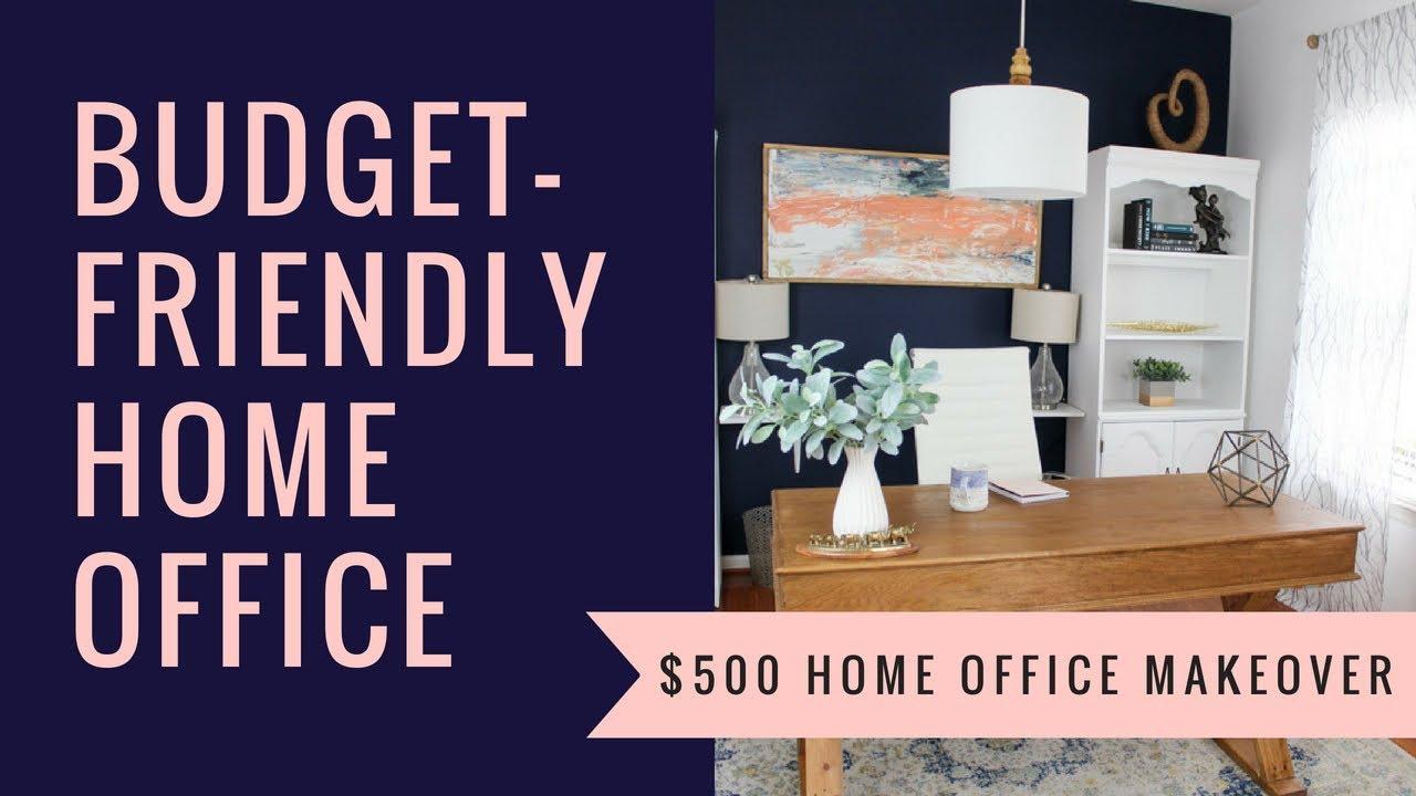 Budget Friendly Home Office Makeover + DIY Decor | Budget Decor | Before U0026  After