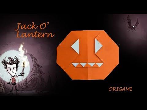 Halloween pumpkin - Jack O Lantern for decoration | Fun DIY easy origami