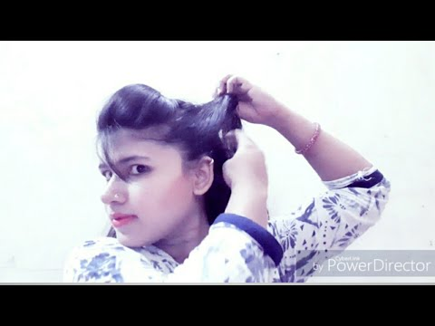 Simple puff ke saath 4 hairstyles banaye/ easy and Quick hairstyle - YouTube