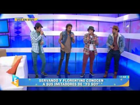 ¡Servando y Florentino cantaron junto a sus imitadores peruanos!