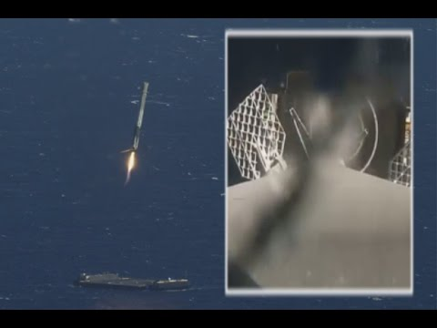 SpaceX Rocket Landing At Sea Captured By On-Board Camera, Chase Plane | Vid