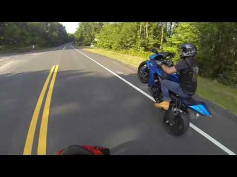 Kawasaki Ninja ZX10R Wheelie Practice
