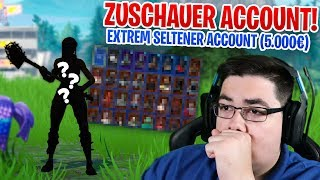 😨 EXTREMELY VALUABLE ACCOUNT from a ZUSCHAUER (He has HEFTIGE Skins + pickaxe) - Fortnite