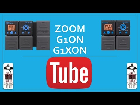 Zoom G1on or G1Xon Tube Setting