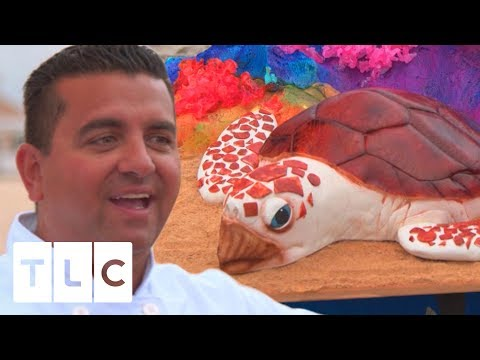 Sea Turtle Underwater Cake With Edible Bubbles! | Cake Boss