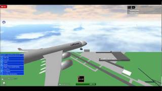Roblox: Volando sobre el aeropuerto de Jacson en A Lufathansa A340: Preveiw