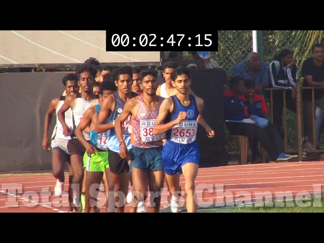 1500m Heat 2 80th All India Inter University Athletic Championship 2020