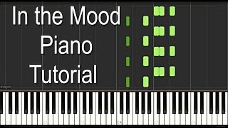 """In The Mood"" Piano Tutorial - Intermediate Level"