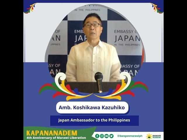 [MESSAGE OF PEACE ] Amb. Koshikawa Kazuhiko