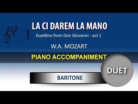 La ci darem la mano / Karaoke piano / Wolfgang Amadeus Mozart / For BARITONE