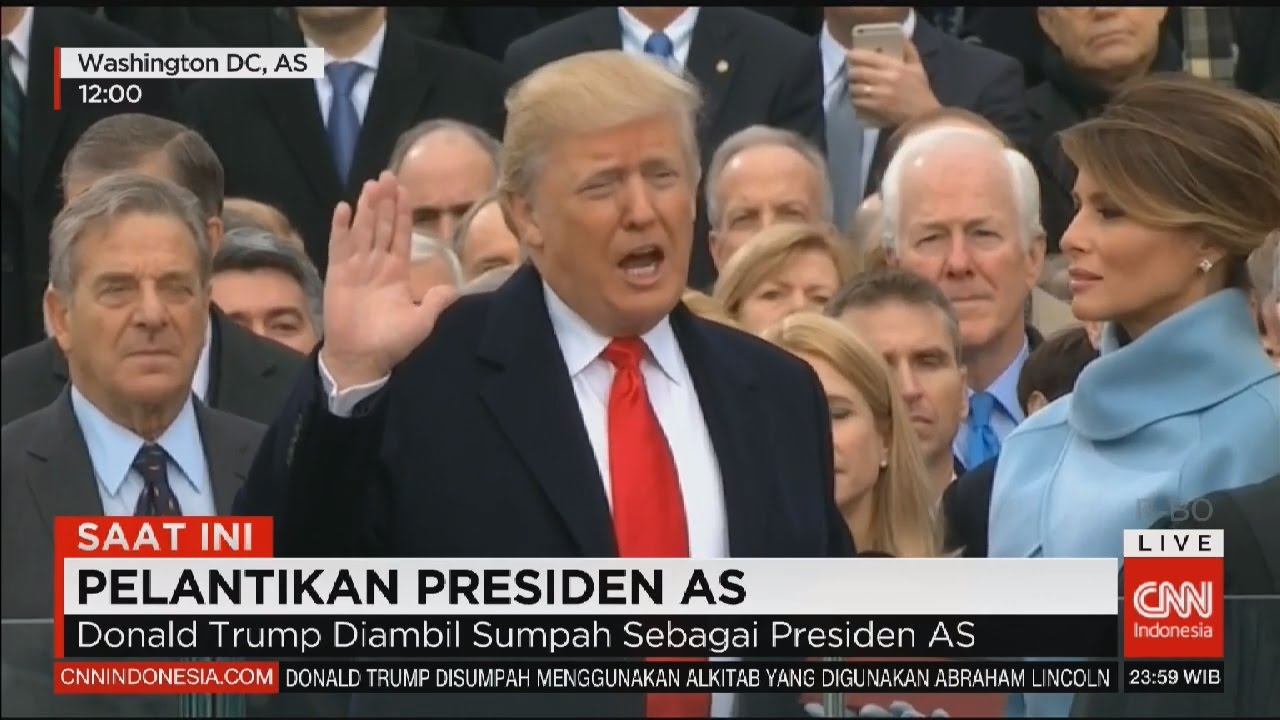 FULL Pelantikan Donald Trump Pidato Pertama Sebagai Presiden