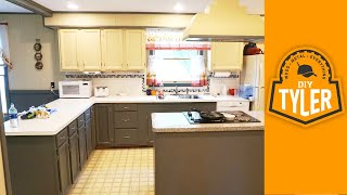 Modify And Refinish Kitchen Cabinets With Chalk Paint  031