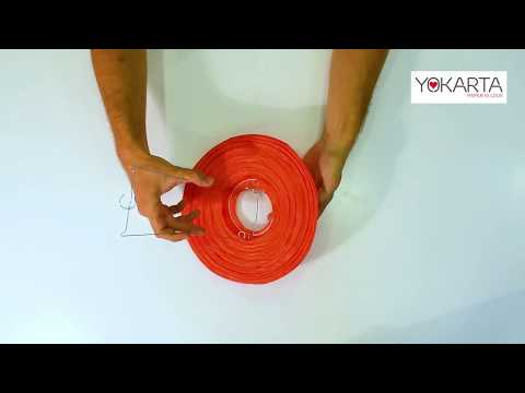 DIY Lampshades Video Tutorial - How to make perfect round paper lanterns in under 1 min
