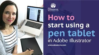 How to use a graphics tablet with Adobe Illustrator. Getting started guide.