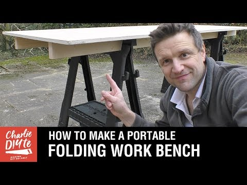 How to Make a Portable Folding Work Bench: Video #1 of 5