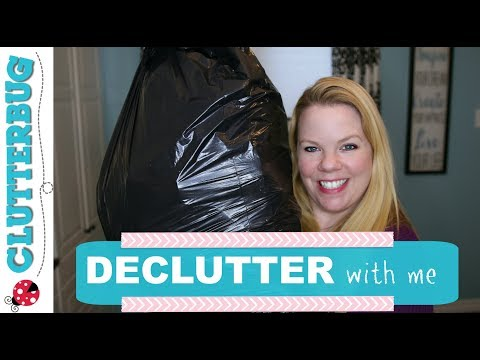 Decluttering with Me - Garbage Bag Therapy Tip!