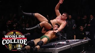 Roderick Strong slams WALTER through the announce table: WWE Worlds Collide, Jan. 25, 2020