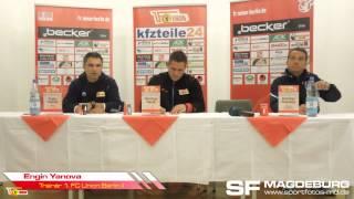 Pressekonferenz - 1. FC Union Berlin II gegen 1. FC Magdeburg 0:3 (0:2) - www.sportfotos-md.de