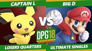 Smash Ultimate Tournament - TGS   Captain L (Pichu) Vs. Big D (Mario, Dedede, Peach) DPOTG18 SSBU