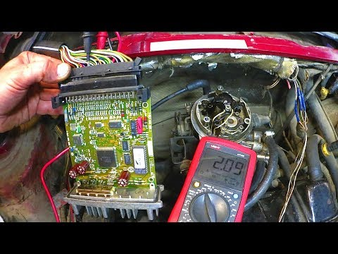 Passat B3 моноинжектор не заводится. Заливает. - YouTube