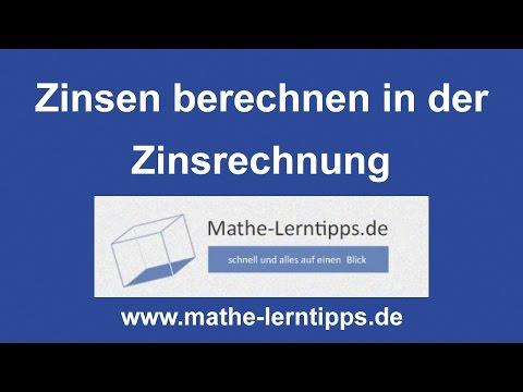 Zinsen Berechnen - Einfach Und Verständlich Erklärt - Mathe-lerntipps.de