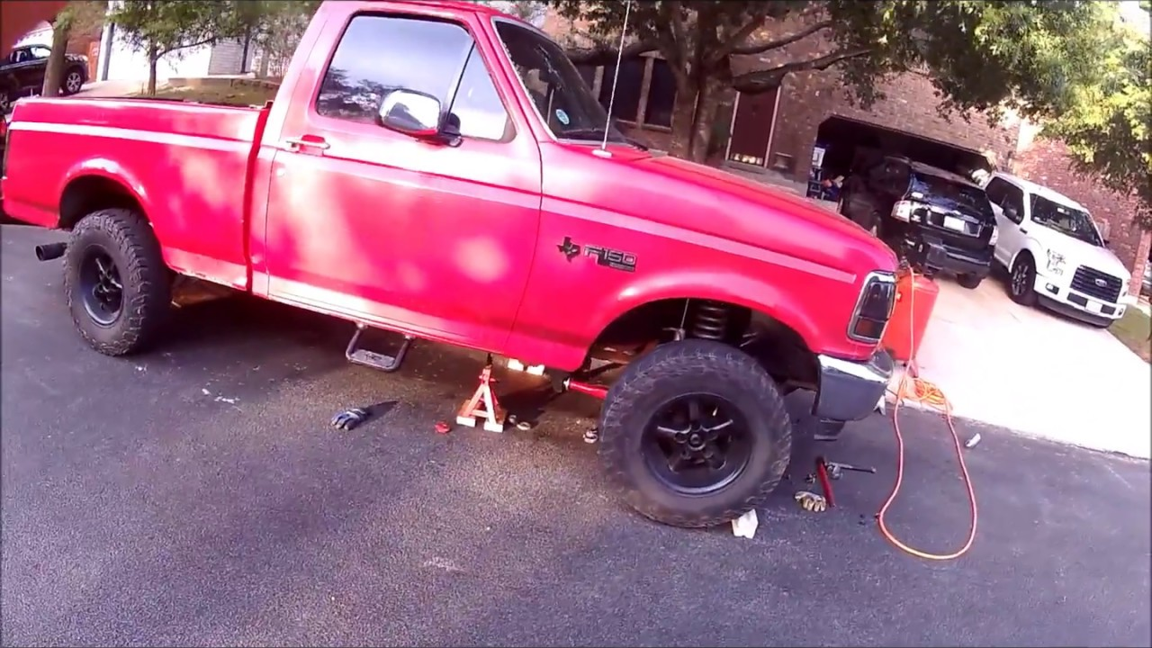 small resolution of installing a lift kit on 1995 obs f150 4 6 inches part 1