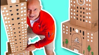 Cardboard Skyscraper - Craft Ideas with Boxes | DIY on Box Yourself