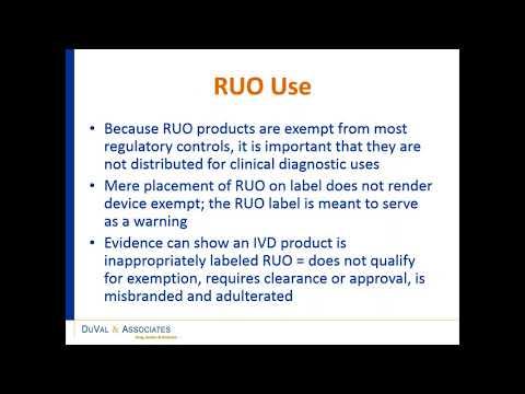 Regulatory webinar by Duval associates
