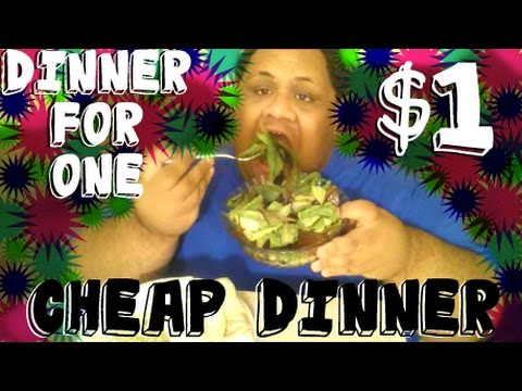 DINNER FOR ONE | CHEAP DINNER | ORGANIC SALAD & TINA'S BURRI