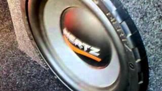 Bass test subwoofer Hertz 1200w - bass, i love you