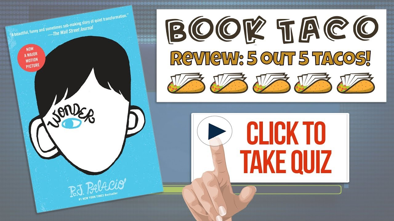 Wonder Book Quiz, Review with Game Reward (Wonder by: R  J  Palacio)