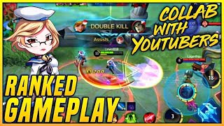 RANKED GAMEPLAY | Collab With YouTubers EP. 1 | MOBILE LEGENDS BANG BANG