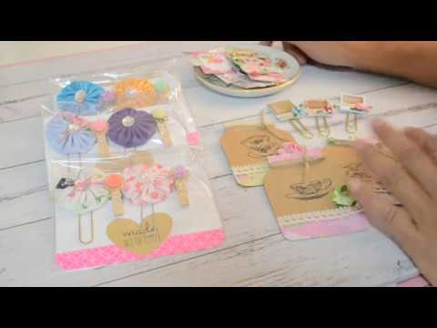 PROJECT SHARE | Handmade Projects | Altered Paperclips | DIY Embellishments | Fabric Yoyos