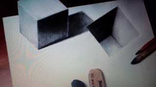 How to Drawing 3D Cube and Hole Easy Trick Art..