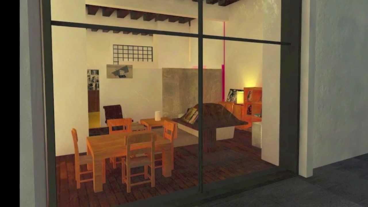 Animacin Casa Estudio Luis Barragn  YouTube