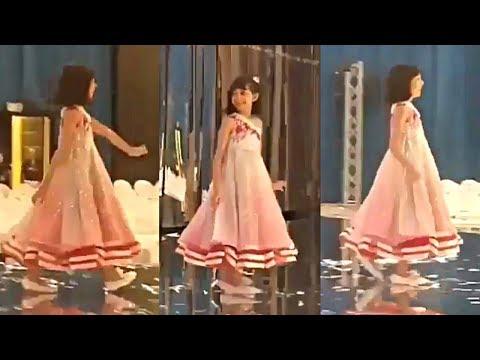Aishwarya Rai Daughter Aaradhya Bachchan Cute Ramp Walk At Manish Malhotra Fashion Show