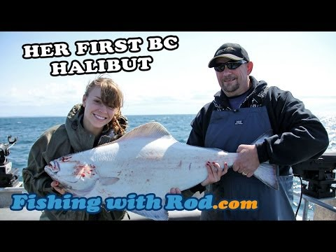 Her First BC Halibut | Fishing With Rod